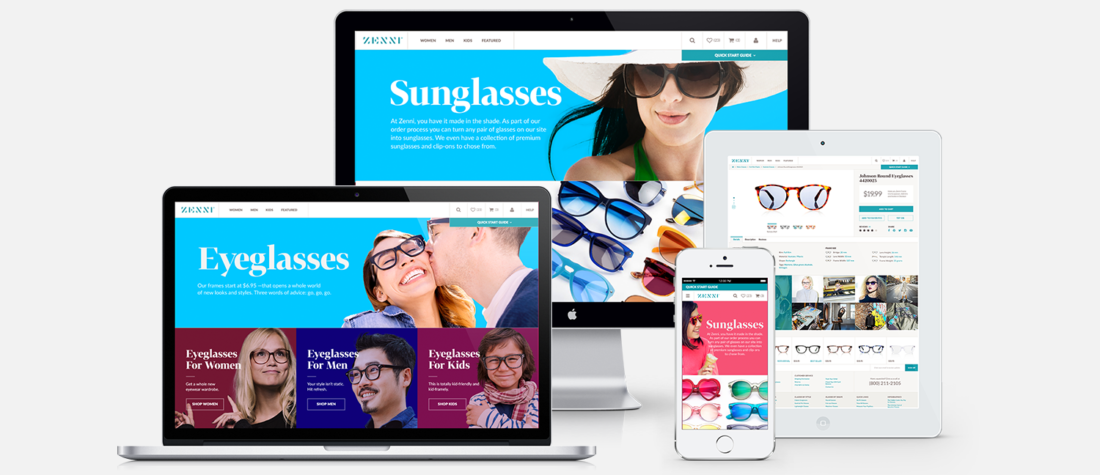 Zenni Optical website design